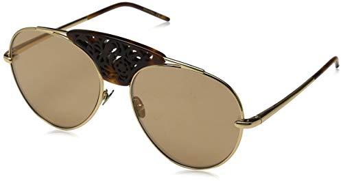 Pomellato pm0033s 003, occhiali da sole donna, oro (003-gold/brown), 59