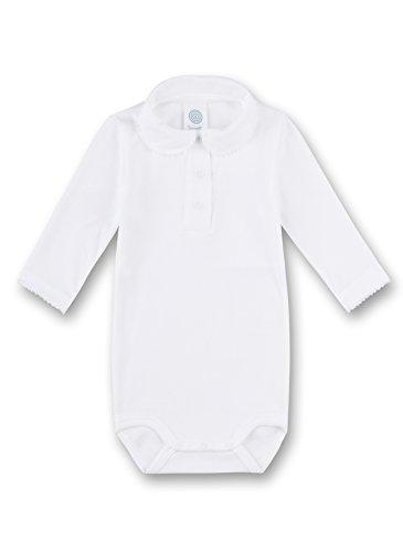 Sanetta Unisex Baby Formender Body 1/1 w.Collar, Weiß (White 10.0) 62