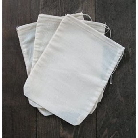 Cotton Muslin Bags 6x8 Inches 25 Count Pack by Celestial Gifts - Herb Favor