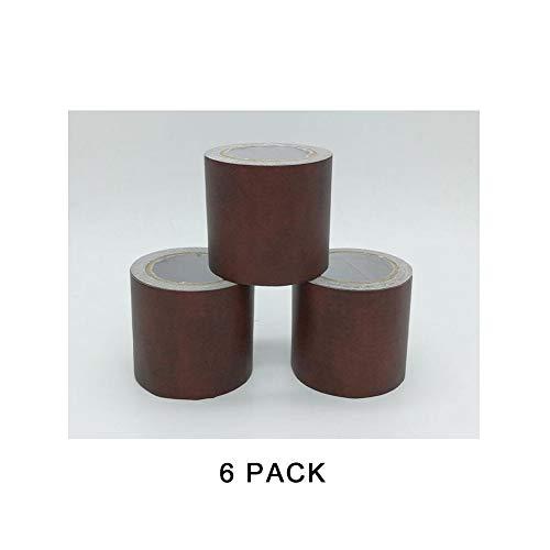 Simuliertes Holzmaserband, zum Dekorieren von Boden, Tisch und Stühlen, 6 Stück (4,8 cm x 4,5 m),Chestnutskingrain -