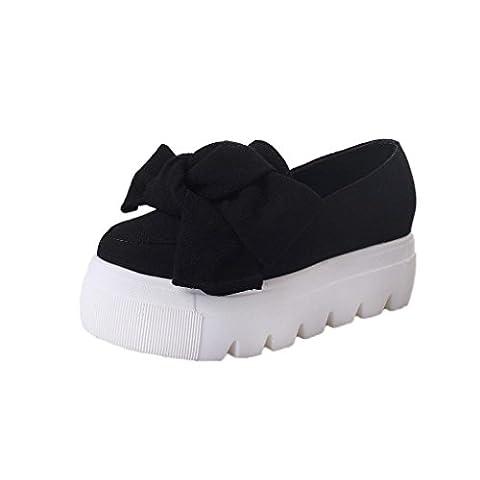 Vovotrade Mode Femmes Flats Bow Lady Flats Mocassins Dames Chaussures