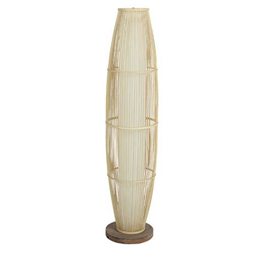 HARDY-YI Lámpara de pie Sala de Estar Dormitorio Comedor Sofá Creative IKEA Lámpara de pie de bambú -Lámparas de pie