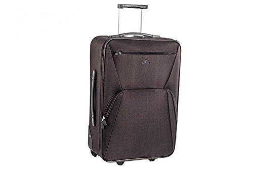 Valigia trolley semirigido SWISH JEANS marrone mini bagaglio ryanair S67