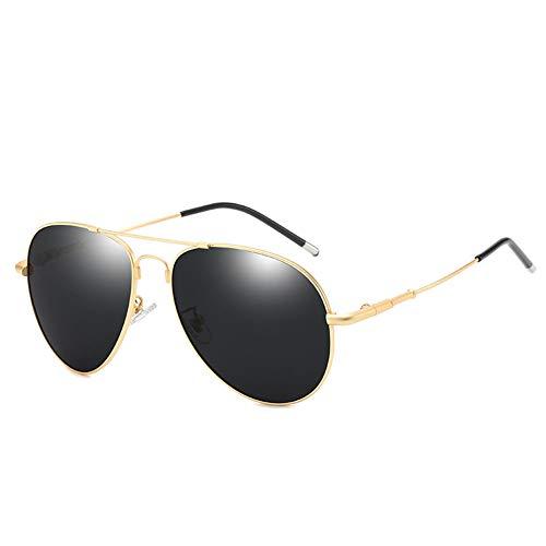 Herren-Sonnenbrille Polarized Fashion Frog Mirror Fahrspiegel, Zum Verzieren Von UV-Visieren, Für Eine Vielzahl Von Gesichtstypen Geeignet (Farbe : Gold frame)