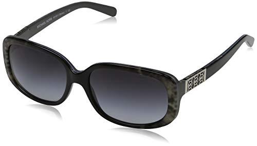Michael Kors Damen Sonnenbrille MK6011 Delray Grau (Grey Snake Black 302011) One size (Herstellergröße: 56)