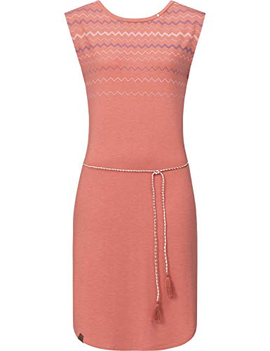 Ragwear Damen Kleid Dress Jeanskleid Sommerkleid Jerseykleid Freizeitkleid Valencia Dress Rot Gr. S -