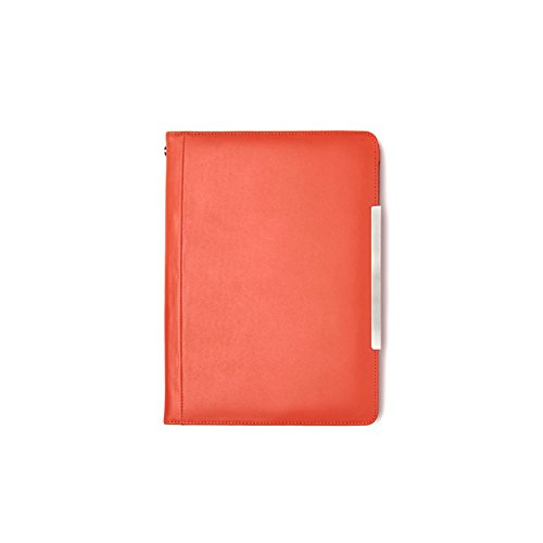 Marshall Bergman Lederhülle für Apple iPad Air orange (Schuhe Canvas Orange)
