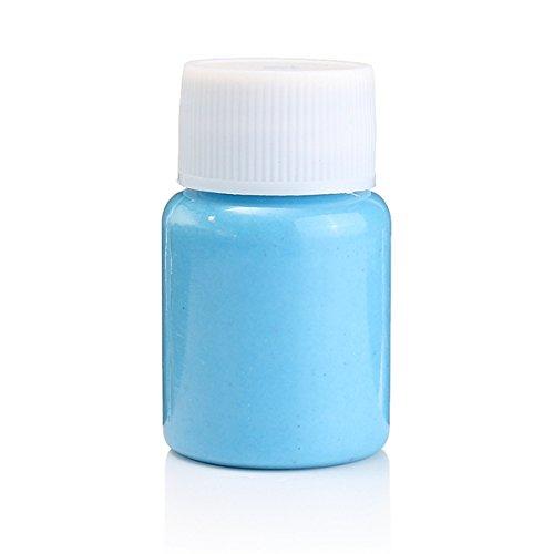 KINGDUO Halloween Party Visage Corps Noctilucence Incandescent Liquide Non Toxique Colorant Peinture Fluide Outils De Maquillage-Bleu