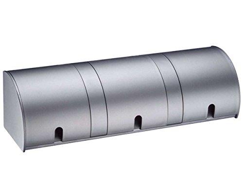 Preisvergleich Produktbild Thebo E 1000/ST3 3-fach Steckdosenleiste Steckdosenelement Aluminium Klappdeckel
