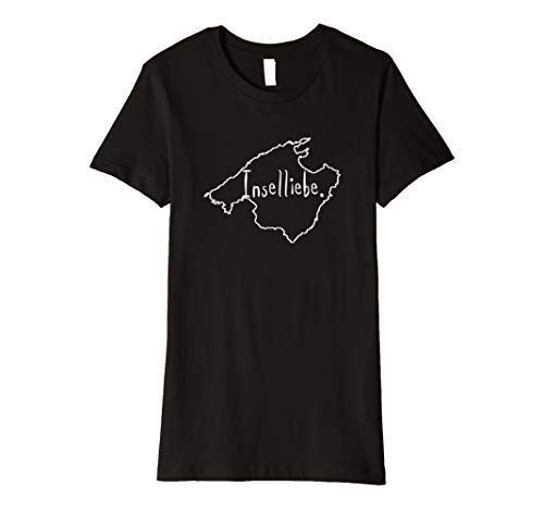 Damen Malle Mallorca Inselliebe T-Shirt Karte Umriss Map Geschenk