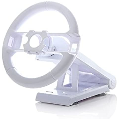 VOLANTE RACING CAR CON SOPORTE COMPATIBLE PARA CONSOLA NINTENDO WII MOTION PLUS