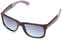Fastrack UV Protected Square Womens Sunglasses - (P366PR7F|55|Dark Purple)