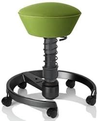 Swopper Aeris Air - Bezug: AIR: Runner/Lime-Green | Fußring: Anthrazit | Universalrollen für alle Böden | ohne Lehne | Körpergewicht: MEDIUM