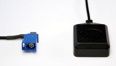 Audioproject A108 - GPS Antenne aktiv Fakra Winkel-Stecker 5m Kabel magnetisch Auto-Radio Navigation kompatibel zu Blaupunkt Becker RNS MFD Audi VW Mercedes incl 3M Klebepad
