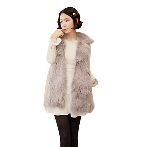 Giacca pelliccia donna smanicato pelliccia sintetica plush gilet cappotto invernali costume fashion eleganti casuale colori solidi caldo regalo gilet di pelliccia outerwear