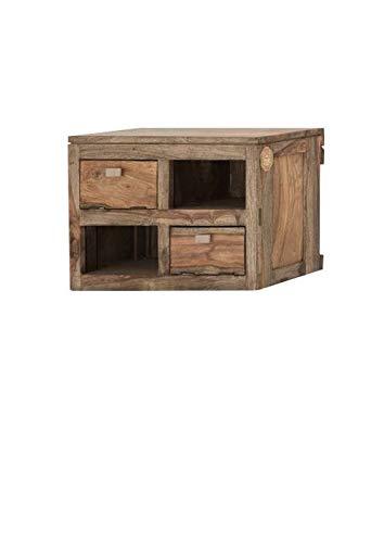 MASSIVMOEBEL24.DE Sheesham Massivholz Wandelement Palisander Möbel Holz massiv Nature Grey #066
