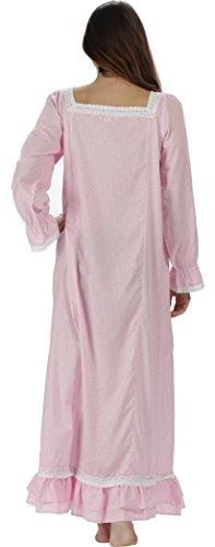 pourThe 1 for U 100% coton Longue robe de nuit - Martha - S-XXXXL Papillon rose