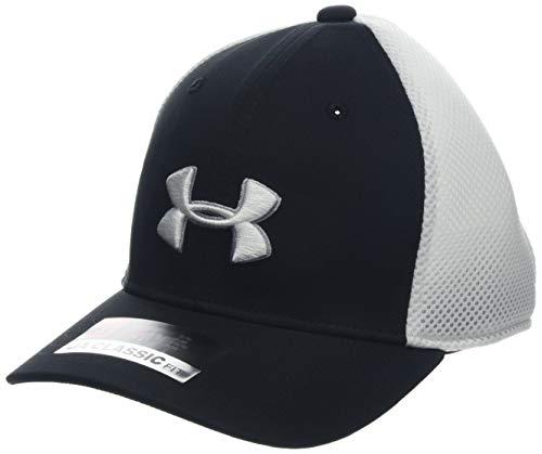 Golf Mesh Cap (Under Armour Jungen Boy's Golf Classic Mesh 2.0 Kappe, Schwarz, S/M)
