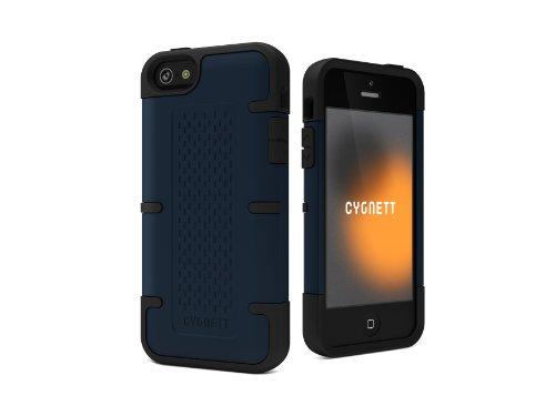 Cygnett CY0868CPWOR Workmate Case für Apple iPhone 5 mit Displayschutzfolie blau/schwarz blau