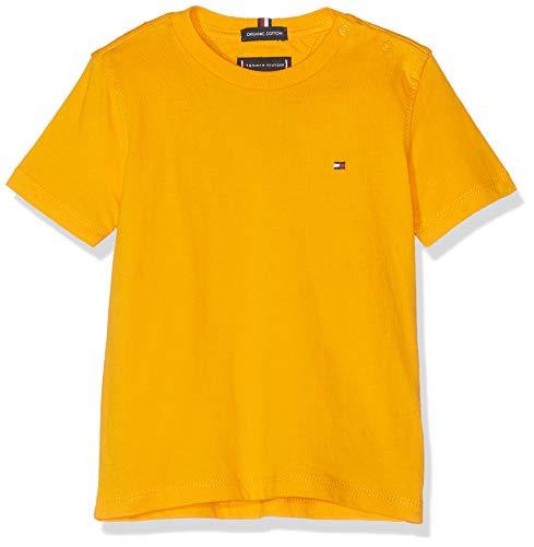 Tommy Hilfiger Baby-Jungen Essential ORIGINAL CTTN Tee S/S T-Shirt, Gelb (Radiant Yellow 720), Herstellergröße: 92 -