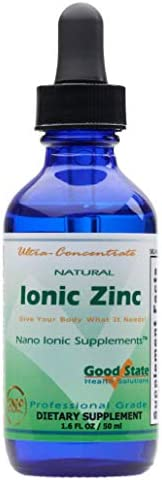 Good State Natural Ionic Zinc | Liquid Concentrate | Nano Sized Mineral Technology | Professional Grade Dietar