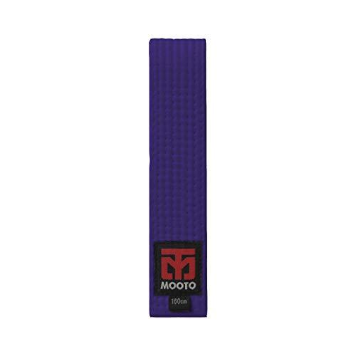 Mooto Color Gürtel, 1 Packung, Breite 4 cm, Länge 160 cm, Weiß/Gelb/Orange/Rot/Grün/Blau/Violett/Kastanienbraun, Herren, violett, 2. Length(180cm or 70.9 inch) -