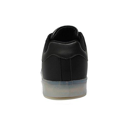 Dogeek Unisexe / Hommes / Femmes Lumineux Led Chaussures Sneakers Chaussures Avec Lumières Allument Hommes / Femmes Sport Chaussures Noir1