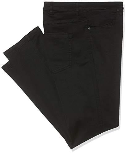 Zizzi Amy Damen Jeans Super Slim Jeanshose Stretch Hose Große Größen 42-56, Schwarz, 50 / 78 cm