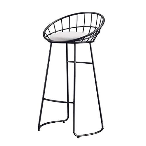 Schwarz-weiße Barhocker Gepolsterte Esszimmerstühle, Pub-Barhocker aus Schmiedeeisen, Rezeptionstheken für Cafés, Sitzhöhe 65/70 / 75CM