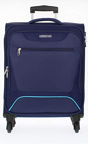 American Tourister Hyperbreez Trolley 4 Ruote Grande colore Dark Blue espandibile