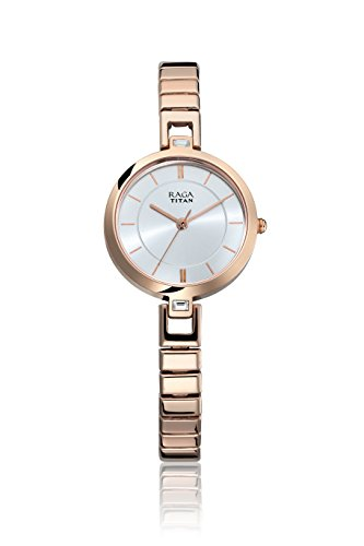 Titan Raga Viva Analog Silver Dial Women's Watch - 2603WM01