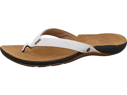 Reef 2017 Ladies Miss J-Bay Flip Flops TAN/White R1241 Boot/Shoe Size UK - UK Size 6