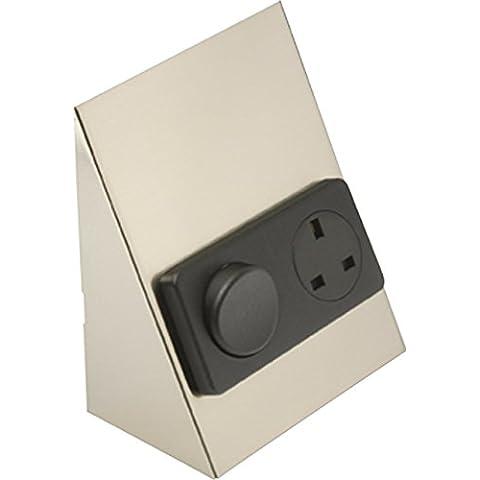 ml558–bajo armario/encimera Interruptor &, intensidad: cromo cepillado w/color negro