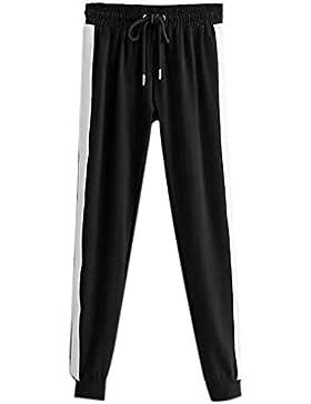 Hellomiko Pantalones Casuales para Mujeres - Estilo Hip Hop Fitness Running Pantalones de Harén Rectos y Holgados