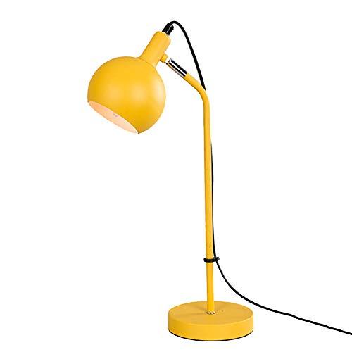 Schreibtischlampe, Für Kinder Tischlampe lesen Büro Wohnheim LED-Haushalt Nachttischlampe Restaurant Cafe Tee Raum Dekoration,Yellow
