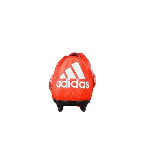 adidas X 15.3 FG/AG, Chaussures de football homme Naranja / Blanco / Negro
