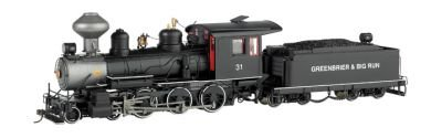Bachmann 28657 On30 Spectrum(R) Steam Baldwin 4-6-0, Powered, with DCC; Greenbrier & Big Run Lumber Co with Steel Cab
