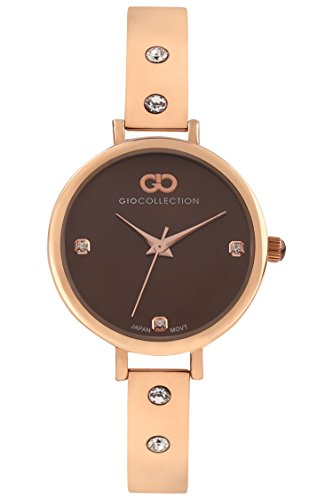 Inara By Gio Collection Analog Brown Dial Women Watch- G2099-55 image