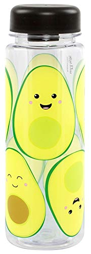 Happy Avocado Clear Water Bottle