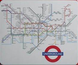 Preisvergleich Produktbild Mauspad, Netzplan der Londoner U-Bahn