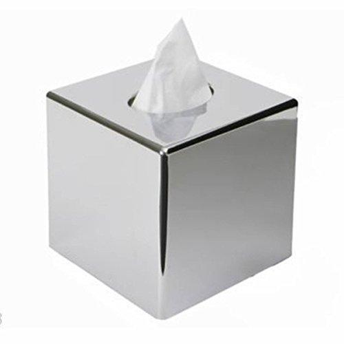 KING DO WAY Tissue box Edelstahl Kosmetiktuecherbox Taschentuchspender Kosmetiktuch Taschetuch 13 × 13 × 13cm