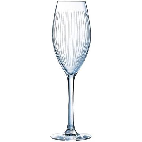 Luminarc 9205400 Lounge Club Lot de 4 Flûtes à Champagne 22 cl 15 x 15 x 23 cm