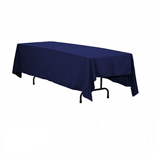 Nappe en polyester rectangulaire rouge de 152,4 x 320 cm de GFCC, Autre, bleu marine, 70 x 120 tablecloth