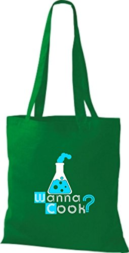 Shirtstown, Borsa tote donna Verde (kelly)