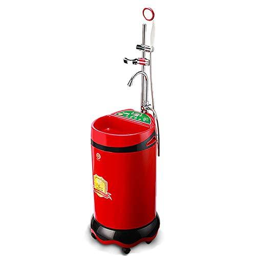 ZNDDB Tragbare Dusche - Zuhause Intelligente Vertikale Kleine Edelstahl-Wasserspeicherdusche, 80L / 220V / 2000W, 5H Terminsteuerung,Red