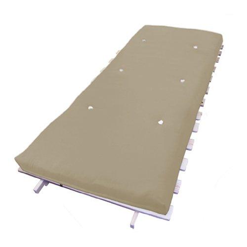 Futon Sessel mit Bettfunktion, inklusive Holz-Lattenrost, Matratze in verschiedenen Farben erhältlich 90 x 190 cm stone -
