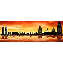 feelingathome-Impresi—n-artistica-Skyline-Barcelona-01-cm45x142-poster-lamina-para-cuadros