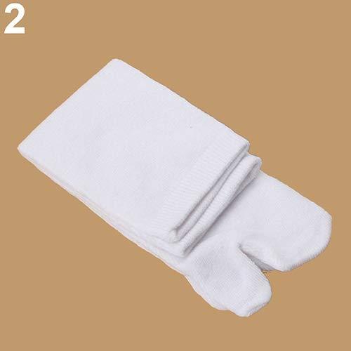 little finger Stilvolle und langlebige Haushaltsgegenstände 1 Paar Unisex Japanische Kimono Flip Flop Sandale Split Toe Tabi Ninja Geta Socken Einheitsgröße weiß -