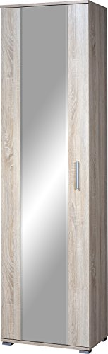Germania Garderobenschrank 3029-156 GW-Maxima, mit ausziehbarer Kleiderstange und Spiegelfront, in Sonoma-Eiche-Nb., 54 x 197 x 34 cm (BxHxT)