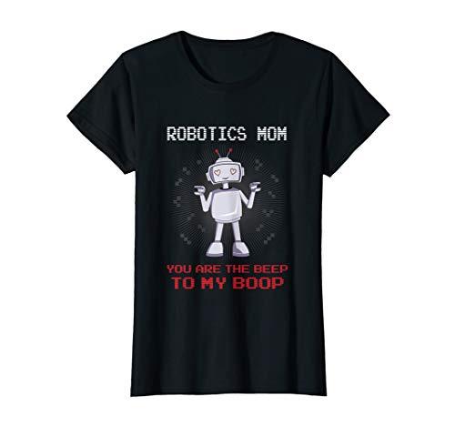 Damen Robotics Mom Shirt Nerd Geek Roboter Mama Muttertag Geschenk T-Shirt